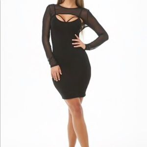 Dresses & Skirts - Black dress with netted sleeves